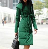 Free Shipping 2014 New Arrival Fashion Women Coat Winter Jacket ,4 Colors,5 Sizes Long Jacket Coat , Winter Coat For Women