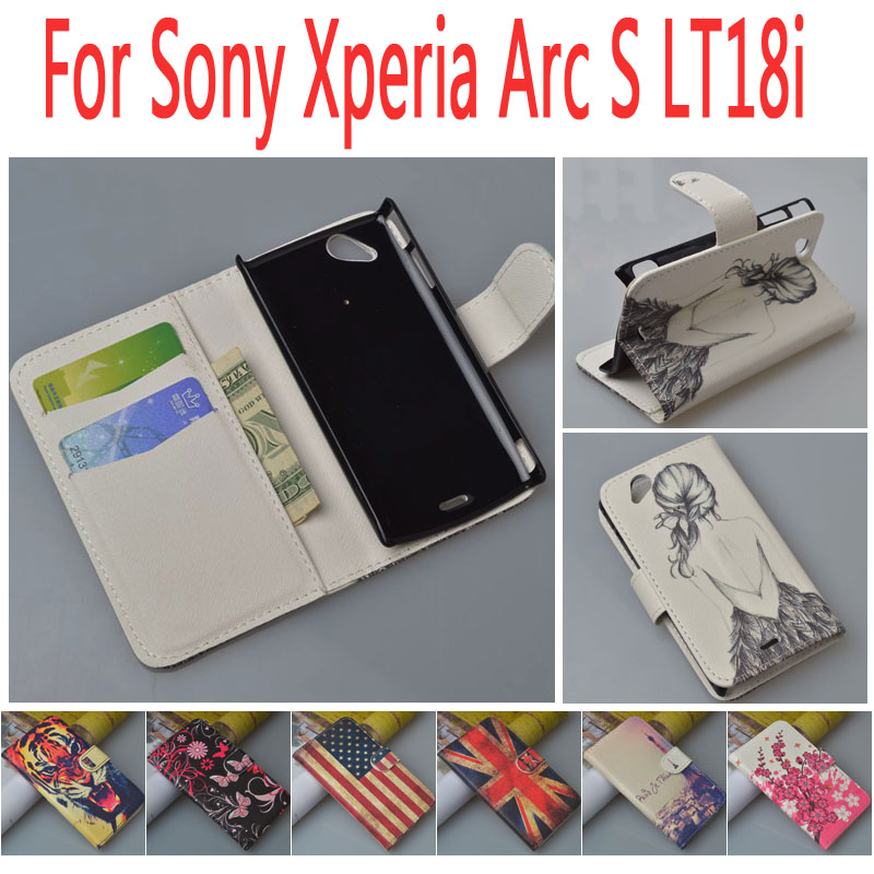 Flip Pattern Leather Stand Case Cover For Sony Ericsson Xperia Arc S LT18i,for Sony X12 Xperia Arc LT15i cases(China (Mainland))