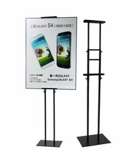 Free Shipping Adjustable Height Floor Metal Poster Stand Poster Display Banner Stand Sign Stand(China (Mainland))