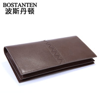 Guaranteed 100% Wallet male casual commercial genuine leather long wallet design multi card holder purse wallet b30171
