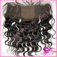 "Peruvian virgin hair silk top frontal,body wave silk base frontal closure,13"" x 4"" virgin hair front lace closure lace frontal"