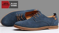 Men's shoes Suede Lace up Shoe Big Size European style Large fashion Men's Flat shoes size(39-47)