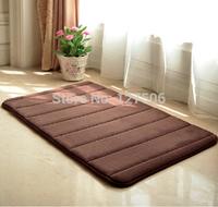 Free shipping Super soft memory foam mats waste-absorbing carpet doormat slip-resistant pad bath matnon-slip mat in the bathroom
