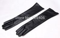 2014 Women's winter faux leather long gloves