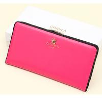 2014 Brand Name Women Wallets Women's Change Purses Long Leather Clutch Wallets Multi Colors carteira feminina Female Wallets