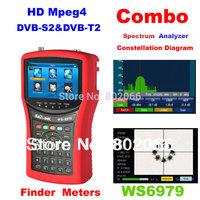 2014 New Arriavel  DVB-S2 & DVB-T2 Combo Meter SIGNAL FINDER WS6979 spectrum constellation satellite meter
