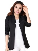 Free Shipping  2014 woMEN Plus Size Blazer, all-match Women's Spring Autumn Slim Suit Jackets 3colors XL-XXL-XXXXL-XXXXL