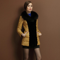 Women's natural sheepskin leather leather garment leather decorative leather coat fur coat fox fur collar rabbit fur 2013 new