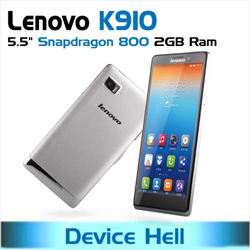 Original lenovo vibe z lenovo k910 phone qualcomm snapdragon 800 with
