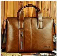 New product! 2014 male horizontal handbag commercial computer briefcase messenger bag man bag