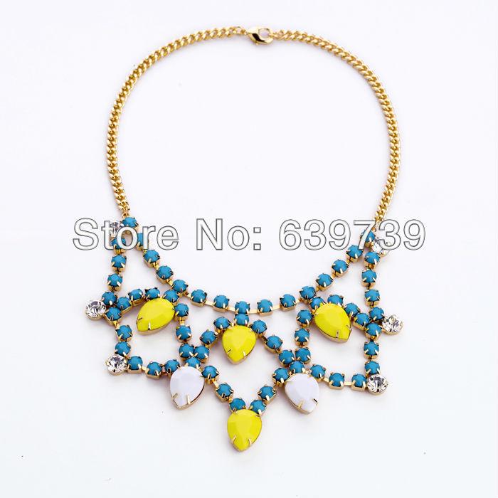 Hawaii Style Cobalt Blue Necklace(China (Mainland))