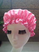 Satin &EVA double layer waterproof shower cap&Treatment with cap &present &Not a one-off Mother's day