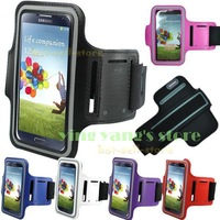 For  Samsung Armband Colorful Arm Band For Samsung Galaxy S3 i9300 s4 i9500 Video Sport Bag Armband Case FREE SHIPPING