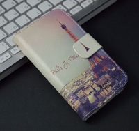 Luxury Cute Cartoon Pattern Flip Leather Case Cover For Sony Xperia SP M35H,with stand function and card slots