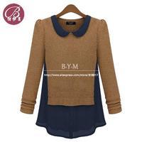 BAIYIMEI Brand New Hitz Female Fashion Long-sleeved Sweater Women Blouse Clothing Free Shipping