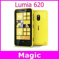Unlocked original Nokia Lumia 620 mobile phone 3.8 inch capacitive screen GPS WIFI 3G network one year warranty free shipping