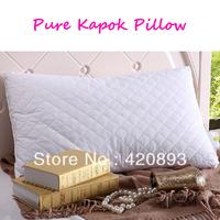 100% Natural Pure Kapok Pillow 100% Cotton Filled Health Care Long Pillow Neck Pillow Memory Pillow Home Bedding Free shipping