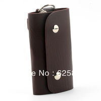 Free Shipping WWF Portable 6 Clips PU Leather Car Keychain Key Holder Bag Case Wallet Cover [JBW-378]