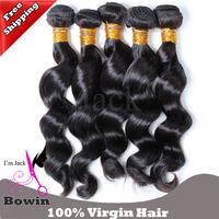 Queen Brazilian Loose Wave Virgin Hair 3pcs/lot DHL Free Shipping Grade 6A 12-30inch 1B Color 100% Human Hair