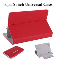 "8 inch Universal Casual  PU Leather Stand Case Flip Cover  for 8"" Tablet PC 8 Color"