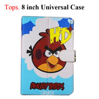 "8 Inch Cartoon PU Protective Leather Stand Case with Magnetic Closure for 8"" Tablet PC 10 Cute Patterns Girl Student  Gift"