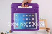2013 Hot Colorful Kids Proof Thick Foam EVA Cover Case Stand Handle for Apple iPad air 5