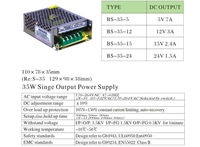 DC driver 35W AC 85V~264V TO DC 5V 7A Switching Power Supply Driver For LED Strip light LCD DOOR TO DOOR FREE SHIPPING