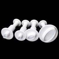 4 Pcs Oval Shape Plunger Chrismas Fondant Cookies Cutters Modelling Mould Paste SugarCraft Decorating