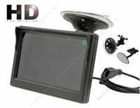"Free shipping!5"" HD HD 800*480 Digital Panel Car Rear View Monitor With Bracket 2 Video Input"