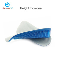 1 Pair Women/Men Honeycomb Gel 3CM Height Increase increasing Shoe Insoles Inserts Pads Cushion Heel Lifts