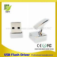 Cufflinks Square Promotional Gift Mini Metal Can Shape USB Flash Drive