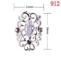 Hollow crystal Alloy Cubic Zircon Gems 912 Metallic Nails art Adornment phone Decoration Accessories DIY parts Factory wholesale