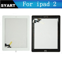 For iPad2 Touch Panel Screen Glass Digitizer+ Button+3M Adhesive, Free Shipping High Quality
