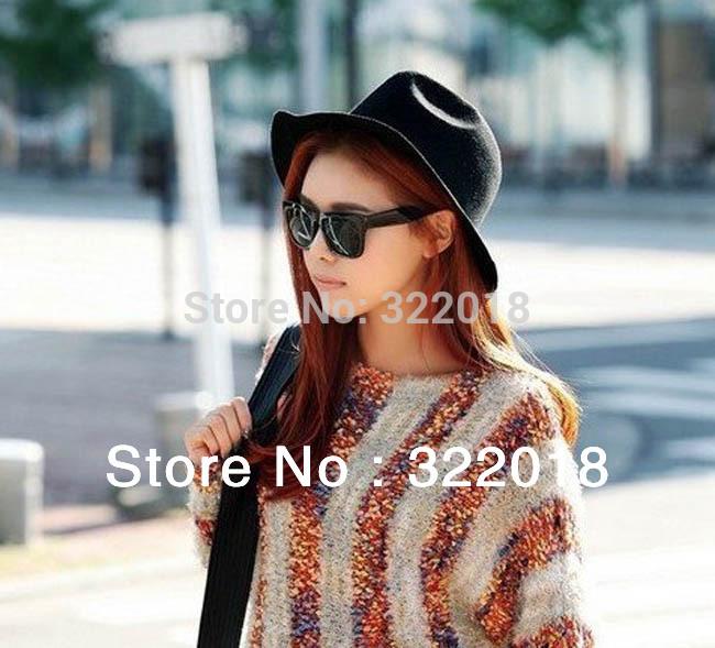 6pcs 2014 Designer Men Wool Fedora Hats Women Winter Floppy Trilby Lady Wide Brim Caps Mens Blank Felt Cap Womens Fedoras Hat(China (Mainland))