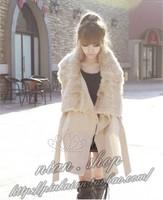 Free Shipping Women's Wool Long Coat ,Fashion Warm Winter Leisure Wear,Cloak Blends Fur Jacket,S/M/L