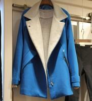 2013 Korea purchasing new women long section woolen jacket Korean yards long sleeve windbreaker coat
