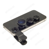 50pcs Universal 3in1 Clip-On Fish Eye Lens Wide Angle Macro Mobile Phone Lens For iPhone 6 5 Samsung Galaxy S4 S5 Phones fisheye
