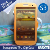 Free Shipping Tpu Frosted Flip cover Mobile Phone  Case for Samsung Galaxy s3 siii i9300 Retail withscreen protector