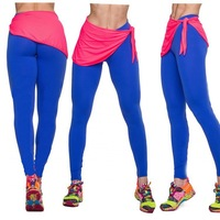 2014 New Roupas Femininas Gym Leggings Rock Style Women High Waist Solid Color Fitness Plus Size Elastic Sportswear Legging