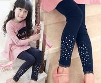 2014 baby girl autumn legging Shining girls cotton leggings fashion children pants for spring/autumn kids pant