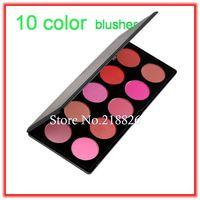 Fashion 10 Color Makeup Cosmetic Blush  Face Blusher Powder Palette , free shipping