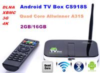 CS918S  Quad Core Andriod 4.2 Smart TV Box   2GB RAM 16GB ROM   Built in 5.0MP Camera XBMC Bluetooth 3G 4K WIFI