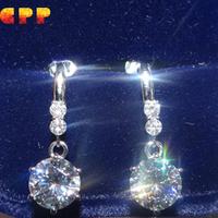 1 Carat Test Positive Diamond 14K White Gold Dangle Earrings,Wedding Jewelry Diamond Earrings ,Free Tester