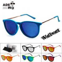 New in ADE WU's Erika Velvet Sunglasses Women Luxury Designer Sun Glasses lentes de sol oculos escuros femininos