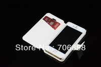 High Quality PU Leather Camellias SILK White Phone Cover Wallet Case for Iphone 5s