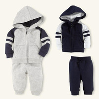 Brand 2013 Free Shipping kids style baby boys polo set Autumn and winter Hoodies Coat Clothing Sports suit
