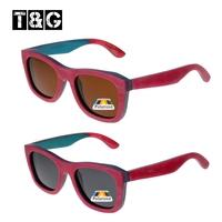 Nerd Style Skate Wood Frame Sunglasses Retro Vintage Women's Polarized Sunglasses Hispter Lady Bambu Oculos Feminino Madeira