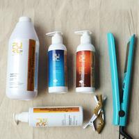 keratin straightening hair product keratin treatment and keratin purifying shampoo and argan oil hair care set