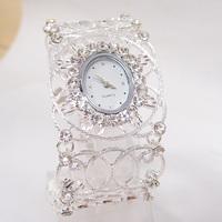 Luxury New Arrive Fashion Crystal Bangle Cuff Watch women Ladies vintage dress Quartz Wristwatches PB-2
