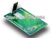 Free DHL: 100pcs/lot 16GB 8GB 4GB Credit card USB flash drive with free logo printing flash pendrive